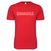 Next Level SoftStyle Red T Shirt-Institutional Mark