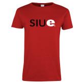Ladies Red T Shirt-SIUE