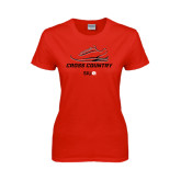 Ladies Red T Shirt-Cross Country Shoe