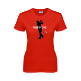 Ladies Red T Shirt-Hole In One
