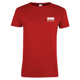 Ladies Red T Shirt-SIUE