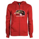 ENZA Ladies Red Fleece Full Zip Hoodie-Cheer and Dance
