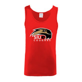Red Tank Top-SIUE Cougars Official Logo