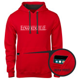 Contemporary Sofspun Red Hoodie-Institutional Mark