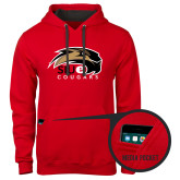 Contemporary Sofspun Red Hoodie-SIUE Cougars Official Logo