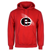 Red Fleece Hoodie-e Slash Mark
