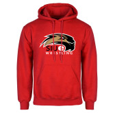 Red Fleece Hoodie-Wrestling