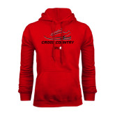 Red Fleece Hoodie-Cross Country Shoe