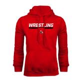 Red Fleece Hoodie-Wrestling Bar