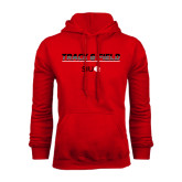 Red Fleece Hoodie-Track and Field Lines