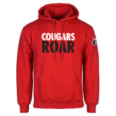Red Fleece Hoodie-Cougars Roar