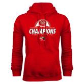 Red Fleece Hood-2016 Womens Soccer Champions