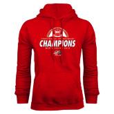 Red Fleece Hood-2016 Mens Soccer Champions