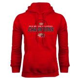 Red Fleece Hood-2016 Womens Volleyball Champions