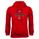 Red Fleece Hoodie-2017 Womens Tennis Back 2 Back Champions