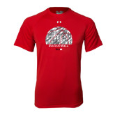 Under Armour Red Tech Tee-Basketball Texture Ball