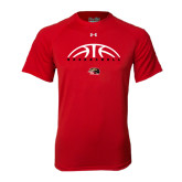 Under Armour Red Tech Tee-Basketball Half Ball