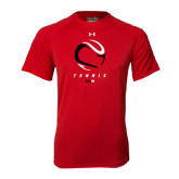 Under Armour Red Tech Tee-Abstract Tennis Ball