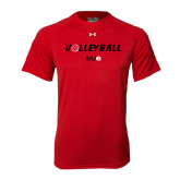 Under Armour Red Tech Tee-Volleyball w/ Ball