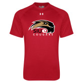 Under Armour Red Tech Tee-SIUE Cougars Official Logo