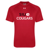 Under Armour Red Tech Tee-SIUE Cougars Stacked