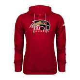 Adidas Climawarm Red Team Issue Hoodie-SIUE Cougars Official Logo
