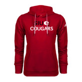 Adidas Climawarm Red Team Issue Hoodie-SIUE Cougars Stacked