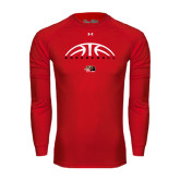 Under Armour Red Long Sleeve Tech Tee-Basketball Half Ball
