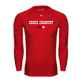 Under Armour Red Long Sleeve Tech Tee-Cross Country Arrow
