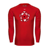 Under Armour Red Long Sleeve Tech Tee-Geometric Soccer Ball