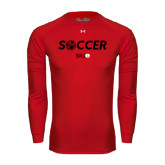 Under Armour Red Long Sleeve Tech Tee-Soccer Halftone Ball