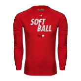 Under Armour Red Long Sleeve Tech Tee-Softball Polygon Text