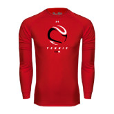 Under Armour Red Long Sleeve Tech Tee-Abstract Tennis Ball