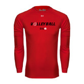 Under Armour Red Long Sleeve Tech Tee-Volleyball w/ Ball