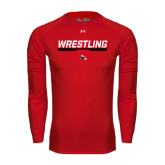 Under Armour Red Long Sleeve Tech Tee-Wrestling Bar