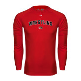 Under Armour Red Long Sleeve Tech Tee-Wrestling Arched