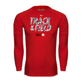 Under Armour Red Long Sleeve Tech Tee-Track and Field Polygon Texture