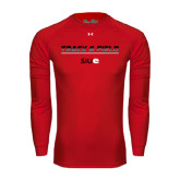 Under Armour Red Long Sleeve Tech Tee-Track and Field Lines