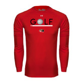 Under Armour Red Long Sleeve Tech Tee-Golf Star and Stripes