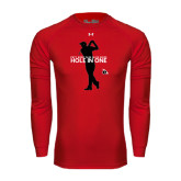 Under Armour Red Long Sleeve Tech Tee-Hole In One