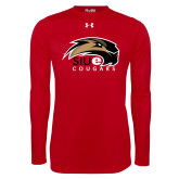 Under Armour Red Long Sleeve Tech Tee-SIUE Cougars Official Logo
