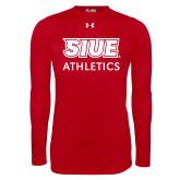 Under Armour Red Long Sleeve Tech Tee-SIUE