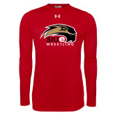 Under Armour Red Long Sleeve Tech Tee-Wrestling