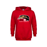 Youth Red Fleece Hood-Softball