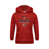 Youth Red Fleece Hoodie-2017 Womens Tennis Back 2 Back Champions