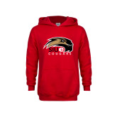 Youth Red Fleece Hoodie-SIUE Cougars Official Logo