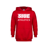 Youth Red Fleece Hoodie-SIUE
