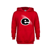 Youth Red Fleece Hoodie-e Slash Mark