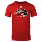 Adidas Red Logo T Shirt-SIUE Cougars Official Logo