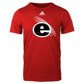 Adidas Red Logo T Shirt-e Slash Mark